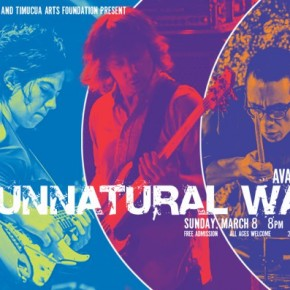 Poster art for Ava Mendoza's Unnatural Ways- Sunday, March8th