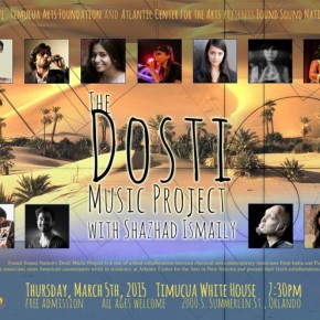 Poster art for The Dosti Music Project- Thursday, March 5th