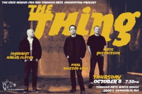 Poster art for The Thing at Timucua white house- Thursday, October 8th