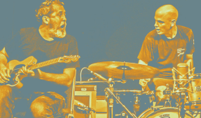 Poster art for Chris Corsano and Bill Orcutt at Gallery at Avalon Island- Monday, December28th
