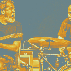Poster art for Chris Corsano and Bill Orcutt at Gallery at Avalon Island- Monday, December 28th