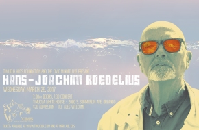Poster art for Hans-Joachim Roedelius at Timucua white house- Wednesday, March 29th