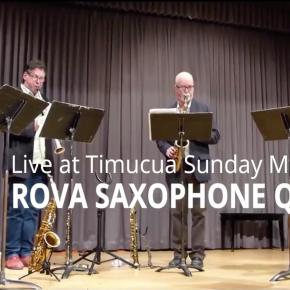 Video advert and poster: ROVA Saxophone Quartet/100th cm5concert